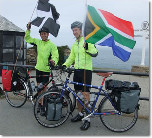 Chris and Dan Lands End to Cape Town